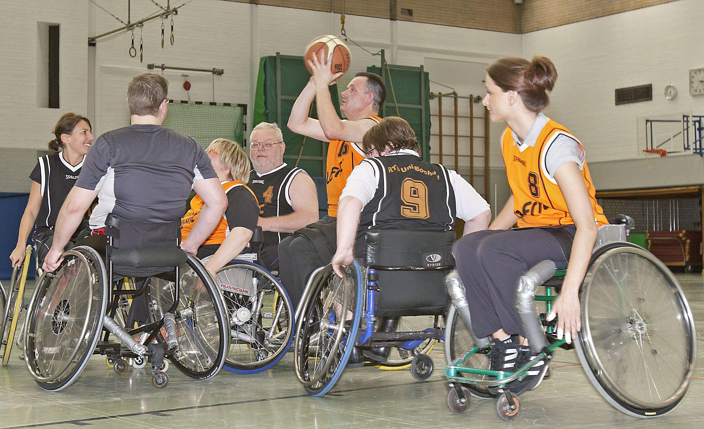 Spielsituation Rollstuhlbasketball
